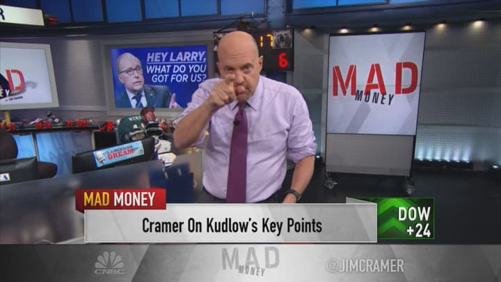 "Jim Cramer: Stock market will ""blast"" past current levels if trade questions are resolved"