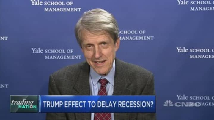 Recession likely years away due to bullish Trump effect, Nobel Prize winner Robert Shiller says