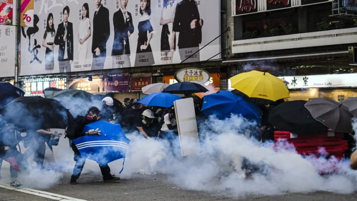 Hong Kong protesters clash with police as demonstrations escalate