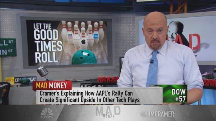 Apple helping the chip stocks rally, Jim Cramer says