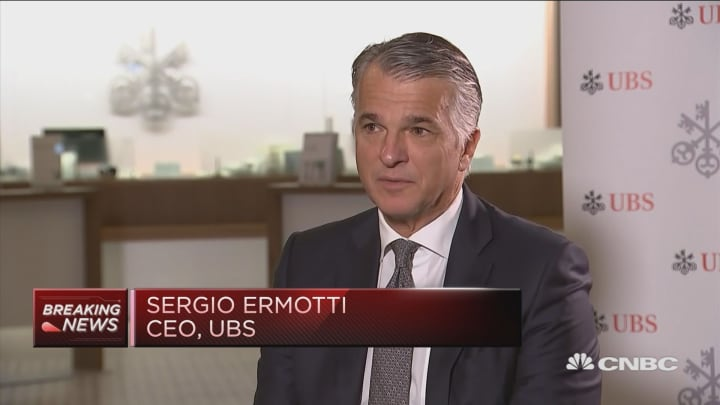 UBS 'forced' to pass on pain of negative rates to clients, CEO says