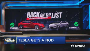 Consumer Reports recommends Tesla