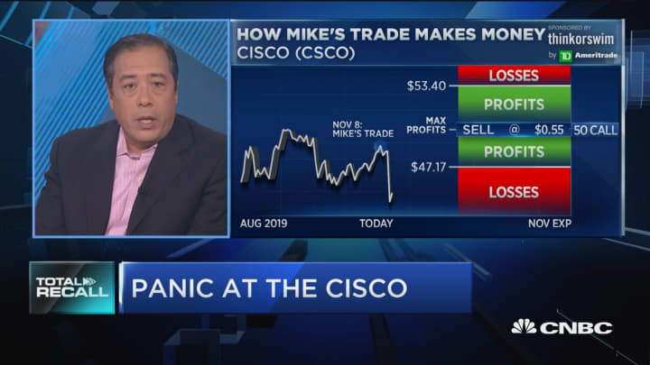 Cisco tanks, here's what that means for one trade