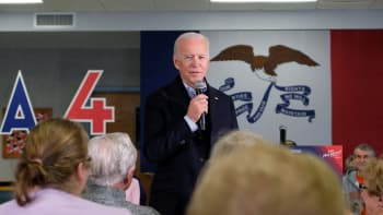 Presidential candidate, former Vice President Joe Biden addresses supporters during his election campaign. The US prudential election is set to take place in November 2020.