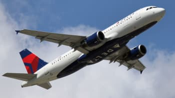 An Airbus A320-212 operated by Delta Airlines takes off from JFK Airport on August 24, 2019 in New York City.