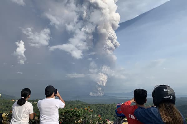 Philippines' Taal volcano erupts, forcing thousands to flee