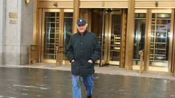 Bernard Madoff, money manager and accused mastermind of a $50 billion investment fraud, leaves the courthouse at 500 Pearl Street in New York, U.S., on Wednesday, Dec. 17, 2008.