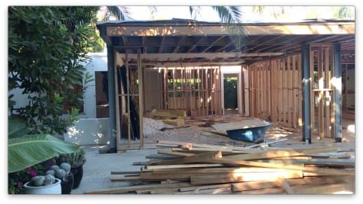 Kirman's house under construction