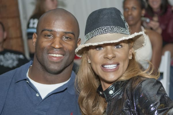 NFL star Ricky Williams with Peggy Fulford.