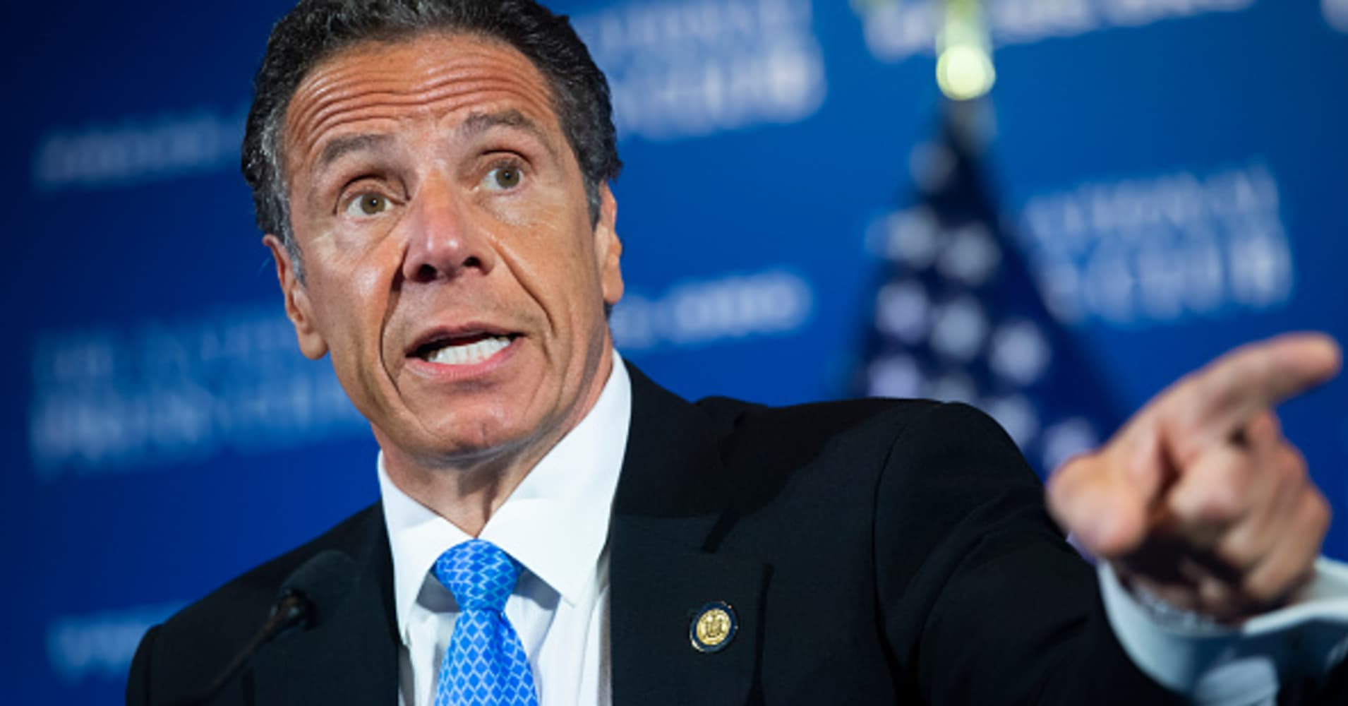 New York Gov. Andrew Cuomo briefs press on the coronavirus amid nationwide protests over George Floyd killing