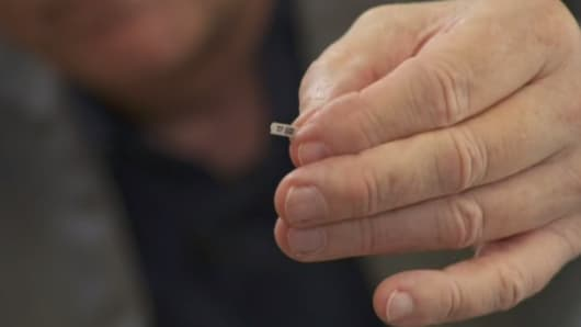 Diabetes chip zuckermessung per implantat