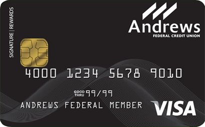 Titanium Rewards Visa® Signature Card from Andrews Federal Credit Union